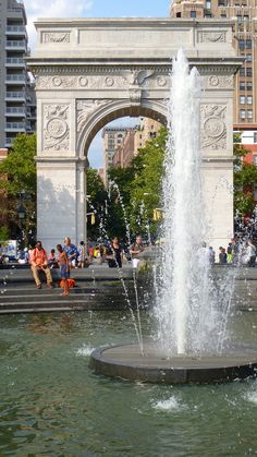 Water fountain in Washington Square Park , NYC