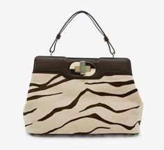 Bulgari Brown And White Handbag - more → http://sylviafashionstylinglife.blogspot.com/2012/06/bulgari-brown-and-white-handbag.html