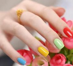 colorful #naildesign #greentea http://greenteanails.com
