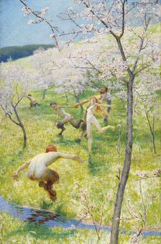 Max Pietschmann - Dance Of Satyrs And Nymph In A Spring Landscape
