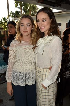 Saoirse Ronan and Olivia Wilde attend the 'Indie Contenders Roundtable presented by The Hollywood Reporter' during AFI FEST 2015 presented by Audi at the Hollywood Roosevelt Hotel on November 8, 2015 in Hollywood, California.
