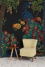 Peacocks and Trees Tapestry -$20 at UO