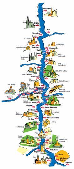 KD Rhine Timetable Schedule