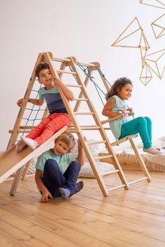 Indoor Playset, Indoor Jungle Gym, Kids Indoor Playground, Kids Indoor Gym, Indoor Swing, Playground Design, Kids Gym, Play Gym, Montessori Toys