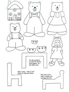 Read Goldilocks and the Three Bears and then print out