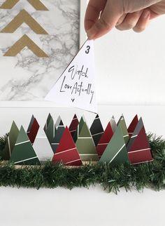 Advent Calendar Ideas - Paint Chip Calendar