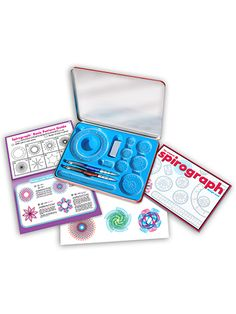 Our Spirograph Design Tin Kit is the next generation of the fun wheels-and-gears drawing toy that was invented by a mechanical engineer in 1965. Kids will create tons of intricate, artistic designs with the included materials and accessories. $14.99