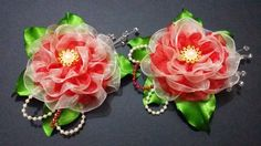 D.I.Y. Double Layered Organza Flower - Tutorial