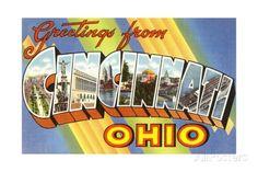 Greetings from Cincinnati, Ohio Giclee Print at AllPosters.com