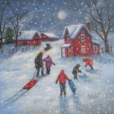 """Snowflake Moon"" - by Vickie Wade"