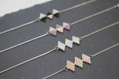 Bracelet Manon argent 925 et perles tissées par PluieSauvage