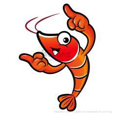 새우 마스코트는 양손으로 방향 가리키고 있다. 새우 캐릭터 디자인 시리즈. (BCDS010555)  Shrimp mascot the direction of pointing with both hands. Prawn Character Design Series. (BCDS010555)  Copyrightⓒ2000-2013 Boians.com designed by Cho Joo Young.