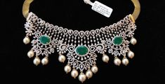 Simple Diamond Choker Designs by Jagadamba Jewellers photo Emerald Jewelry, Gold Jewelry, Diamond Jewelry, Diamond Choker, Lotus Jewelry, Emerald Diamond, Stylish Jewelry, Fashion Jewelry, Diamond Necklace Simple