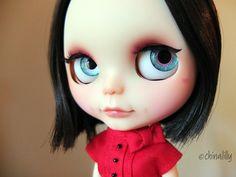 OOAK custom blythe doll Lulu Loveheart on by indyandtheninja