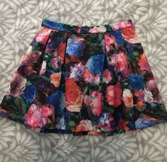 Womens Lace Skater Skirt Plus Size Girl Floral Ladies Flare Mini Skirt Size 8-20