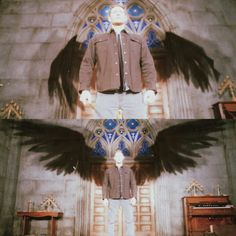 Supernatural Angel Wings, Michael Supernatural, Supernatural Comic, Dean And Castiel, Dean Winchester, Archangels Supernatural, Jesen Ackles, Archangel Michael, Daddy Issues