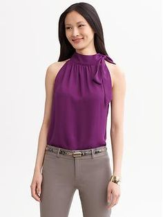 Sandra tie-neck blouse | Banana Republic (what's strange is I designed something almost identical years ago and even had it in a fashion show...
