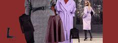 #lurestore #bodycondress #leatherskirt #IleanaBadiu Fall Winter, Autumn, Leather Skirt, Duster Coat, Bodycon Dress, Jackets, Fashion, Down Jackets, Moda