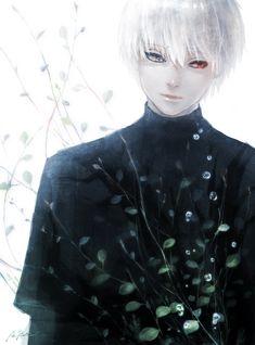 Anime heterochromia / odd eyes grey red (kaneki ken Tokyo ghoul)