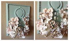 Plaster dipped flowers diy