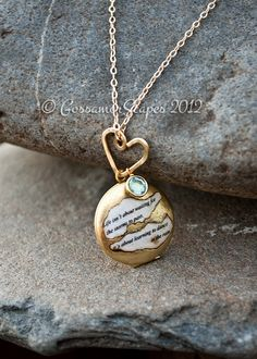 Locket necklace BFF friendship sisters custom quote with birthstone. $29.00, via Etsy.