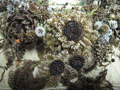 Portion of hair wreath