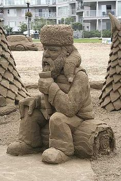 Sand Sculpture--- the person that did this needs to get a job and pay taxes like the rest of us!