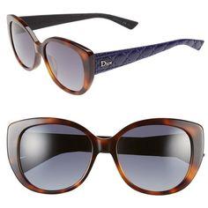 1e252a06e3 Dior  Lady  55mm Oversized Cat Eye Sunglasses ( 390) ❤ liked on Polyvore