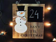 DAYS TILL CHRISTMAS, Christmas countdown, Christmas decor, Chalkboard calendar, Days until Christmas, Wooden Advent calendar, Trending items