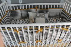 Walmart Child Of Mine Owl Crib Set Aiden Baby Number 5