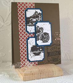 Stampin' Up! One Wild Ride and Copper Embossing Powder. Debbie Henderson, Debbie's Designs