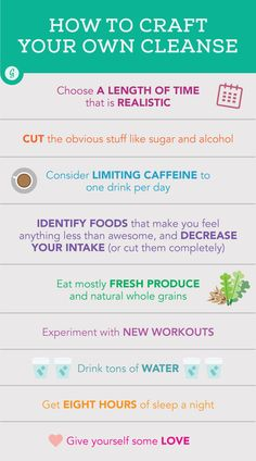 How to Craft Your Own Cleanse #detox #cleanse