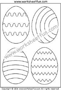 Easter Eggs – Tracing – Coloring