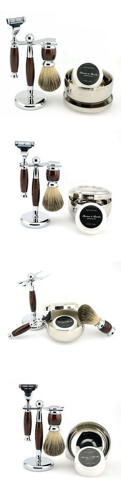 Shaving and Grooming Kits and Sets: 4 In1 Wet Shaving Kit Safety Razor +Pure Badger Brush +Stand+Bowl Free Soap -> BUY IT NOW ONLY: $38.49 on eBay!