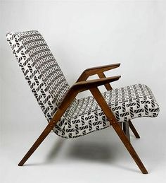 1 from 2 MCM German Retro Vintage Bent Edge Arm Lounge Chair Refreshed!