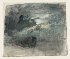 Joseph Mallord William Turner 'The Moon Behind Clouds: ?Study for 'Shields Lighthouse'', c.1823–6