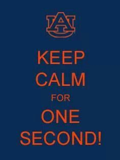 Keep Calm for One Second.