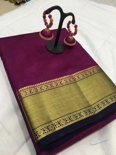 Catlog:-Arni border Fabric:-Tushar silk original With faNcy EarRinGs