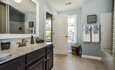 Westley Bathroom from our @lennarcharnc team - we love this calming blue!