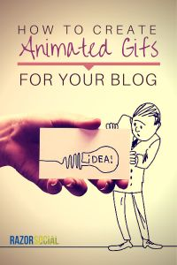 Give a spark to your blog content - check these tools out: How to Create Animated GIFs For Your Blog