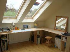 広々作業台な屋根裏部屋   Sumally