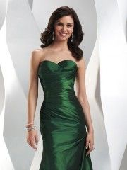 Green ball gown.