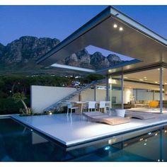 Modern Minimalist Style Architecture Design House Plans ELK Haus 153 - Dream Home Ideas with Open Fl Architecture Design, Residential Architecture, Amazing Architecture, Contemporary Architecture, Minimalist Architecture, Contemporary Homes, Building Architecture, School Architecture, Landscape Architecture