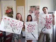 Calligraphy and painting class, Zhenjiang, China www.summerstudytour-china.com