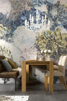 Frisky Flowers Wall Mural by Brewster Home Fashions on @HauteLook