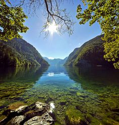 Königssee, Bayern Germany. Been there! But want to spend more time there. Must go on the boat and listen to the trumpet again.
