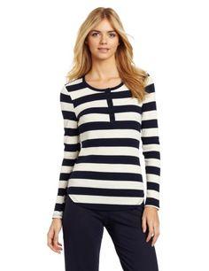 Nautica Sleepwear Women`s Striped Henley $21.60