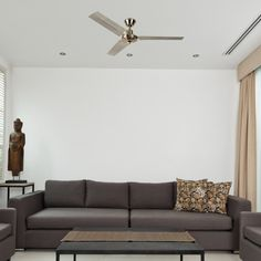Contemporary designer lighting for less. Brushed Chrome Metal Ceiling Fan with 3 Blades and Remote Control. Buy discounted designer lighting from Valuelights. Metal Ceiling, Ceiling Lighting, Ceiling Fan With Remote, Discount Designer, Chrome, Contemporary, Home Decor, Drop Ceiling Lighting, Metal Roof