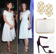 95ee3819a Middleton usava vestido um Preen azul pálido de Thornton Bregazzi, que  combinava com sandálias Prada