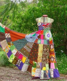 Patchwork dresses and skirts